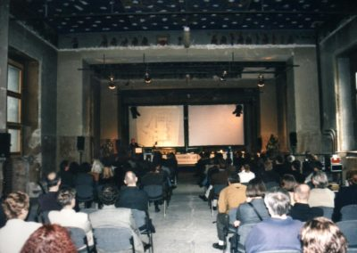 With the star architects at the Neues Museum Berlin, 1996, before the renovation.