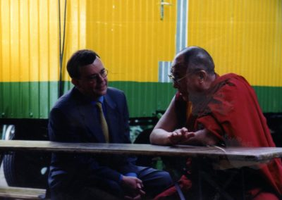 Dalai Lama backstage