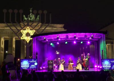 Chanukka 2020 vor dem Brandenburger Tor Berlin